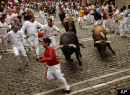 Getting run over by bulls
