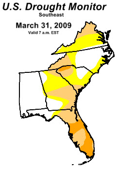 Drought Monitor 3-31-09