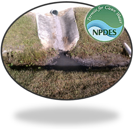 MS4 Discharge w NPDES Logo