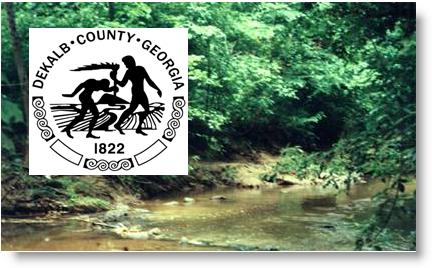 Dekalb County logo w stream