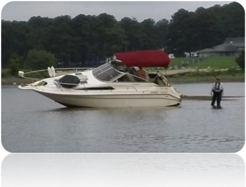 Lake Allatoona boat stuck