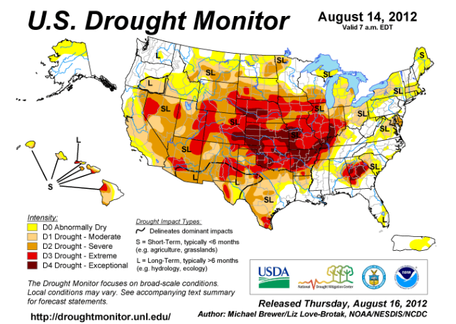 Drought Monitor 8-14-12