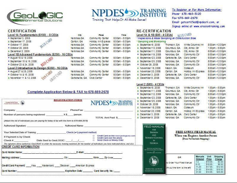 September 08 Class Schedule