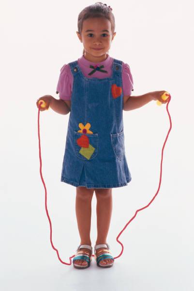 Girl skip rope
