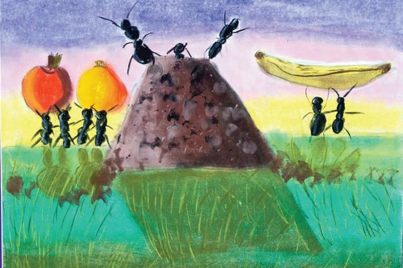 Ant painting