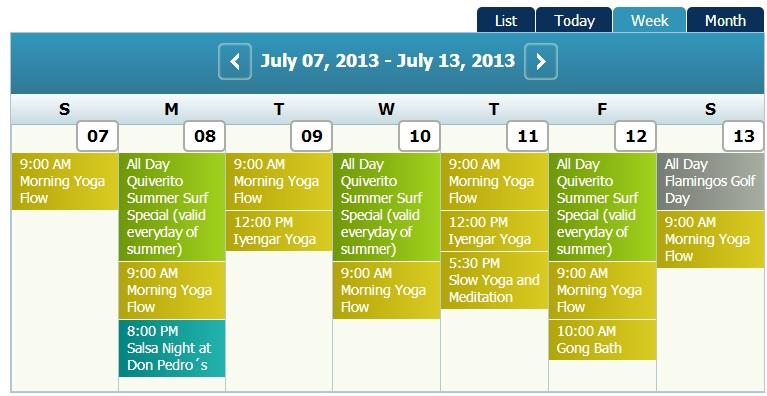 Calendar July 7th-13th