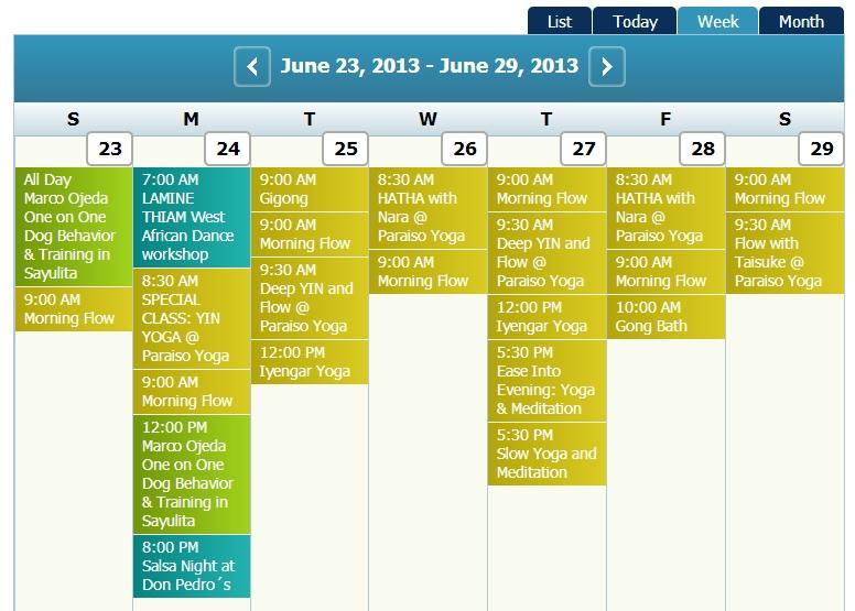 Calendar June 23 - June 29