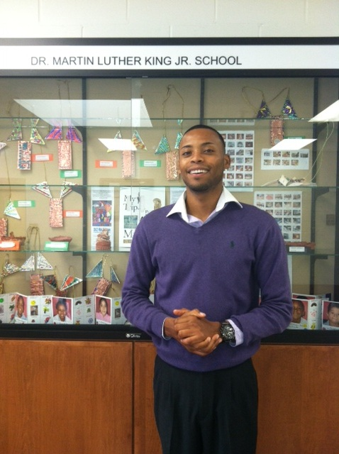 SEEDS Anthony Jones visits Dr. Martin Luther King Jr. School in Trenton.