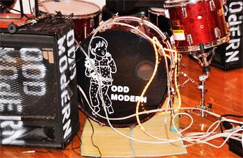 odd modern drum set