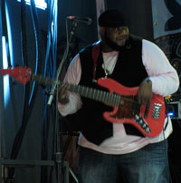 black man bassist