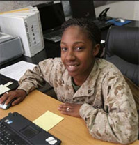 Marine Corps Ops Specialist Shamara Soars Above Expectations