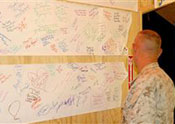 Students send patriotic messages to Marines