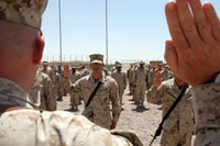 Marines Re-enlisting in Iraq