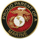 Proud Parent of a Marine Lapel Pin