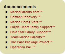 Marine Parents Announcements