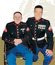 Cpl Neil Schalk and LCpl Josef Lopez