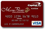 Show Your Support with a Marine Parents credit card from Capital One!
