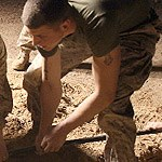 COMM Marines repair fiber optics in Iraq