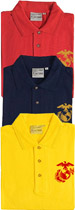 USMC EGA Embroidered Polo Shirt
