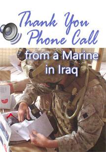 Listen to Thank You Call from Marine in Iraq