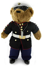Plush Bear In Dress Blue Uniform