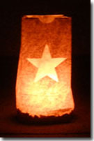 Gold Star Mother's Day Luminary