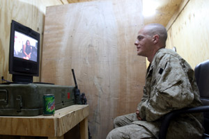 Teleconferencing from Iraq
