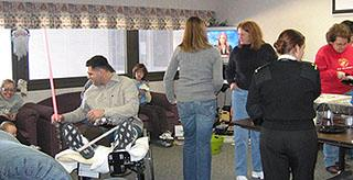 Lunch for Marine Families at Bethesday, January, 2007