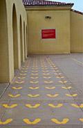 yellow footprints