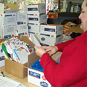 The Care Package Project Packing Boxes and Adding Letters