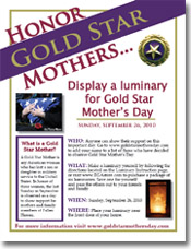 Honor Gold Star Mothers