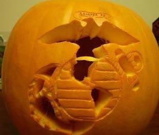 USMC pumpkin