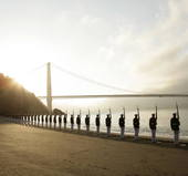 Silent Drill Team United Sates Marine Corps in San Francisco