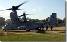 Marines in Haiti using MV-22 Osprey