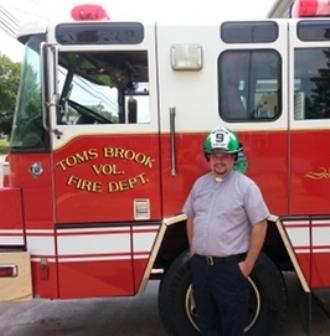 Boynton at fire truck