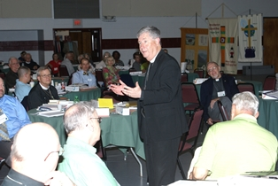 Bishop Mauney speaking at 2013 Assembly