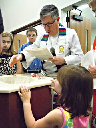 Mauney baptized