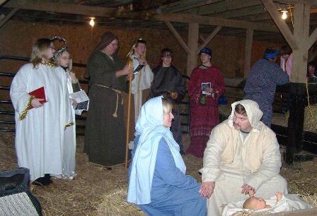 Rural Retreat barn Christmas