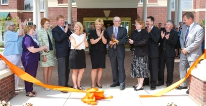 Ribbon cutting at Orchard Ridge
