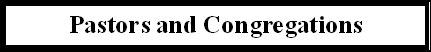 pastors & congregations