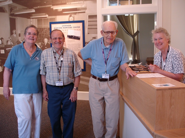Docents waiting to show visitors around the Center exhibits.