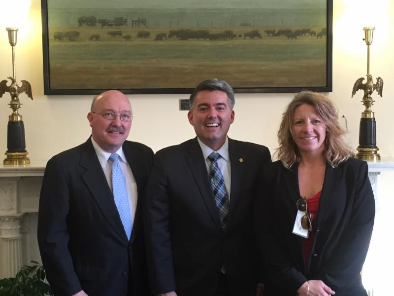 Senator Gardner with Tom and Heidi