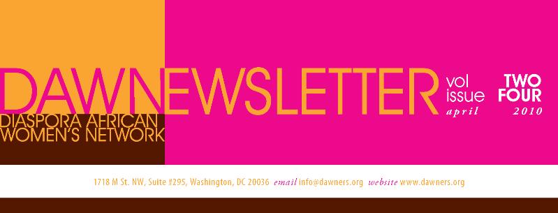 2DAWN Newsletter Header April10