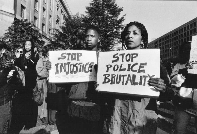 Police brutality protest. (c) Rick Reinhard