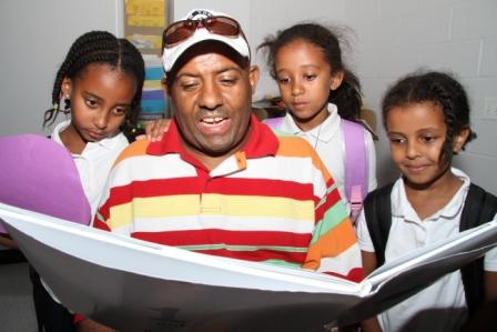 Brightwood Ethiopian Parents Reading