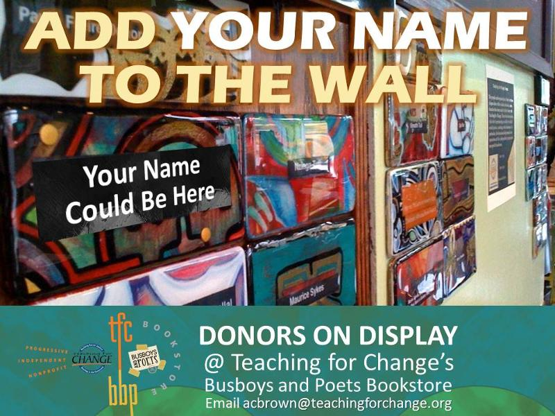 Donor Plaques at Bookstore