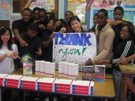 Philadelphia Students with Thank You Sign for Teaching for Change
