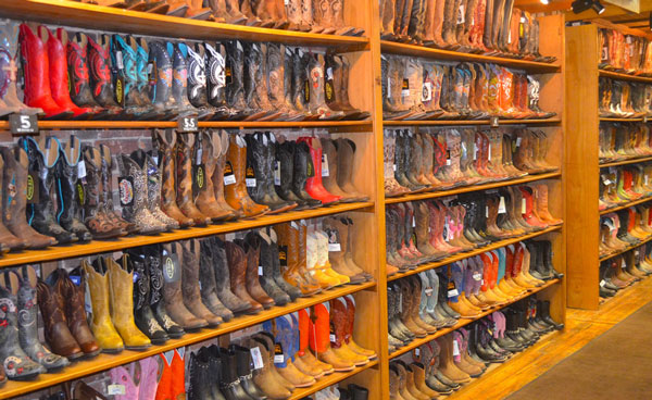 and filled with music with almost as many places to buy cowboy boots
