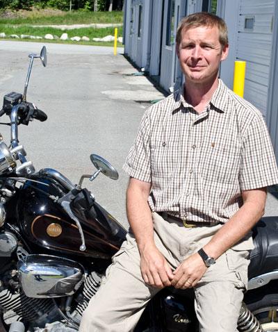 Matt H - on Motorcycle