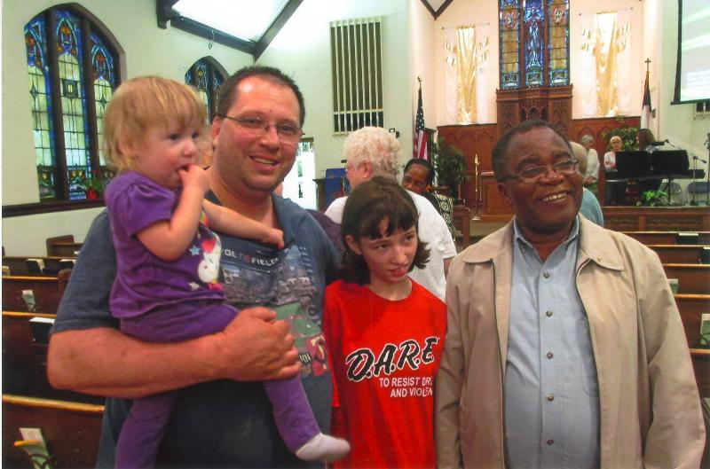Family meets Bishop